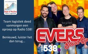 Team Logistiek was live op Radio 538 in Evers staat op!