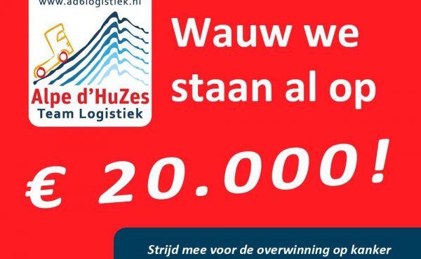 Er is meer dan €20.000,- gedoneerd voor Alpe d'HuZes!