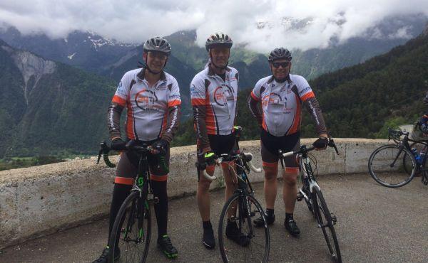 Het eerste trainingsrondje op de Alp